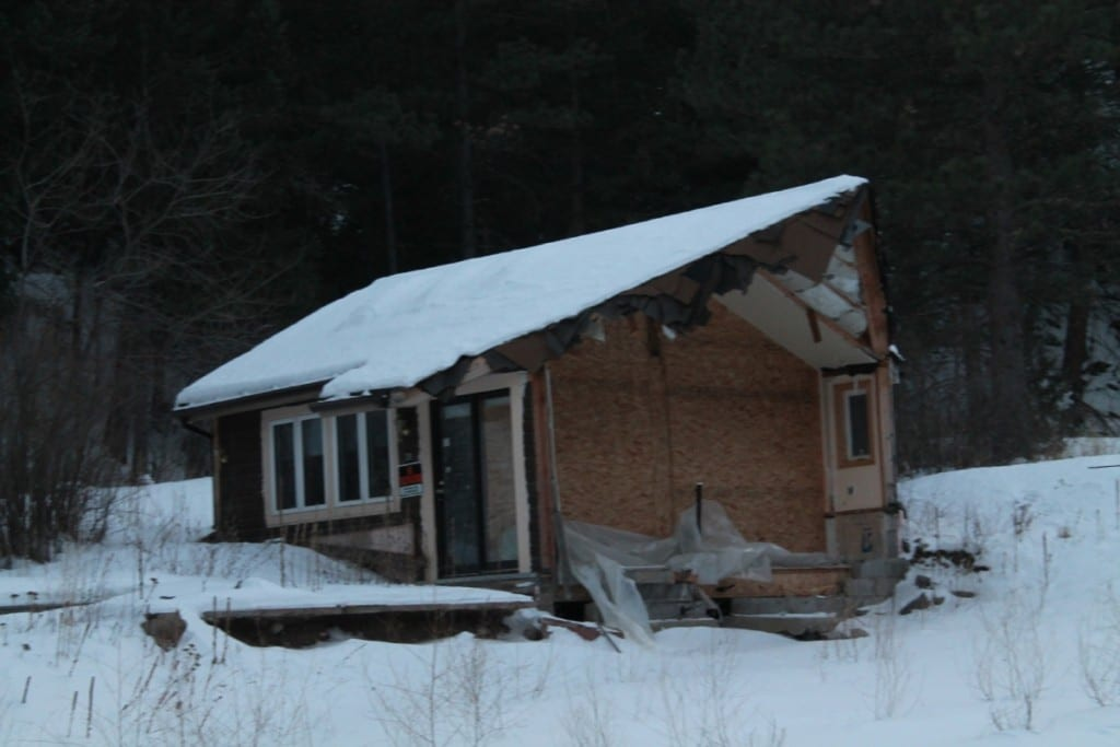 A wrecked house!