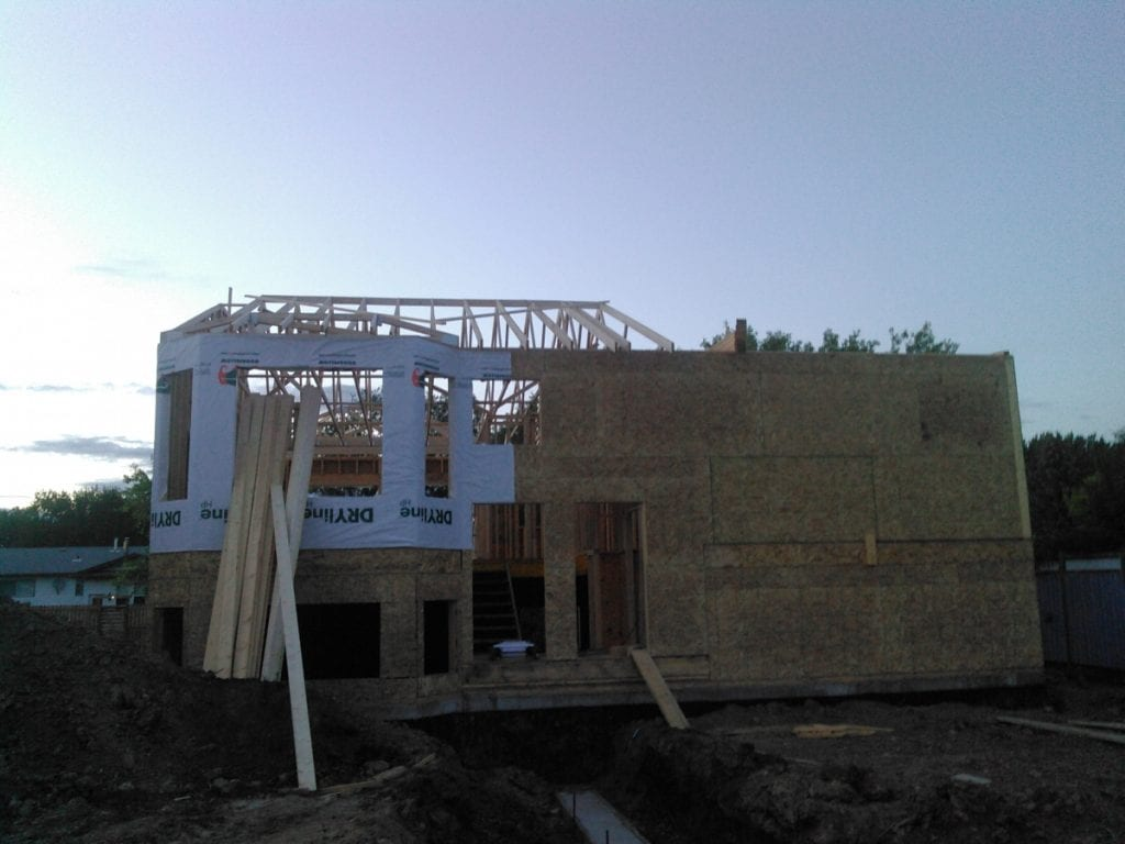 Put up trusses