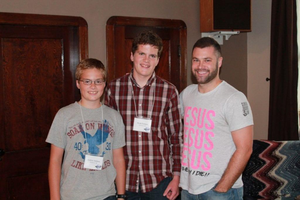 Micah & Andrew with Brett Varvel
