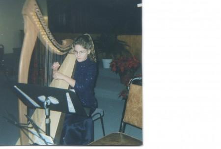 Heidi Playing Harp