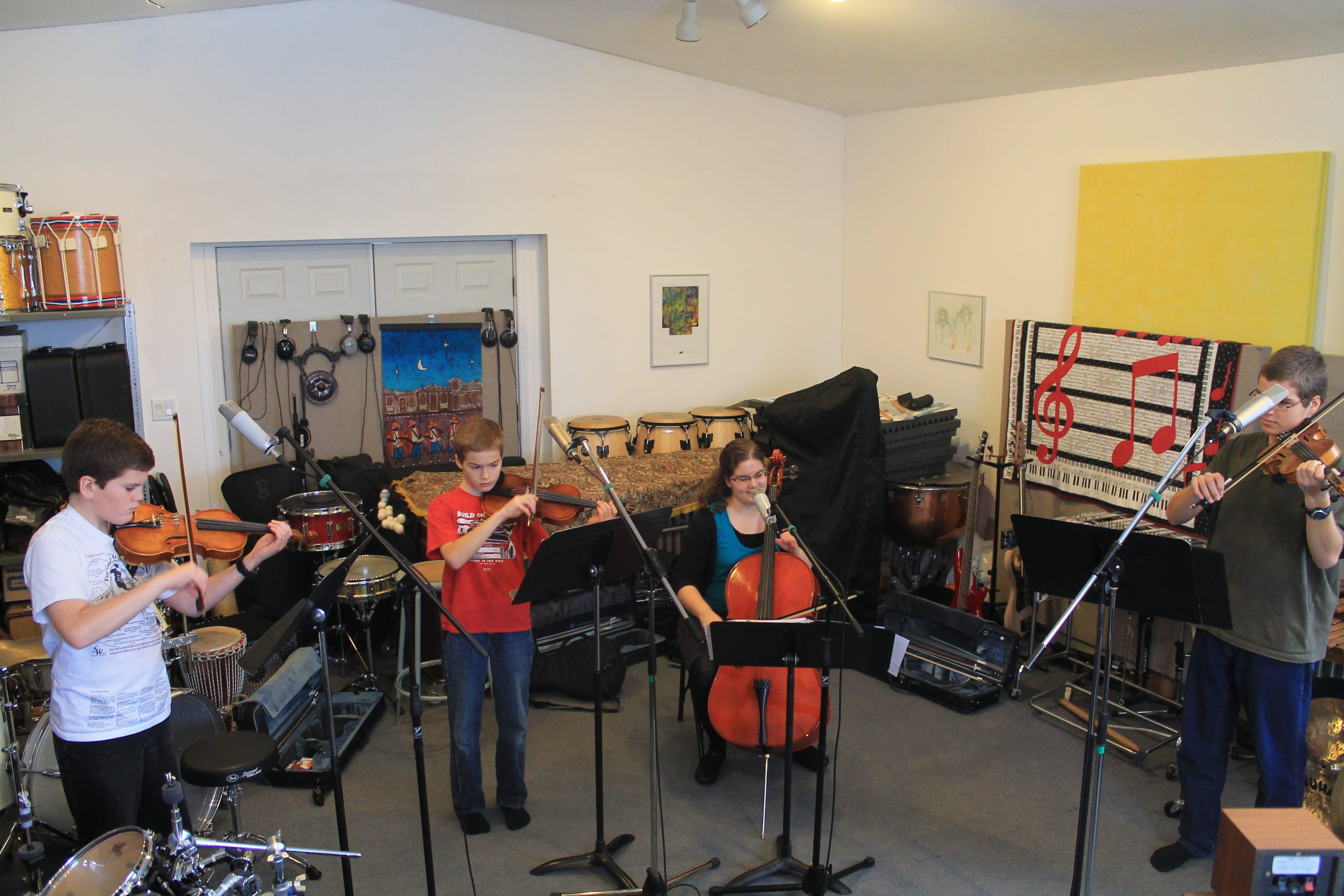 Recording Violins, Viola, and Cello